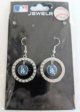Los Angeles Dodgers MLB Crystal Dangle Earrings, Baseball Jewelry
