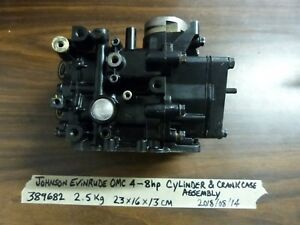 JOHNSON EVINRUDE OMC BRP 4 5 6 8 HP OUTBOARD CYLINDER BLOCK CRANKCASE POWERHEAD