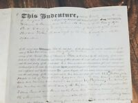 Dutchess County New York NY Poughkeepsie Hyde Park AntiqueLand Deed Ephemera