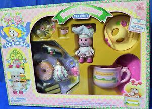 Vintage Kidsview Tea Bunnies Fancy Dessert Party, Pink Chef Bunny, Pie, Cake +