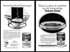 Lot of 2 1926 Campbell's Tomato Soup print ads