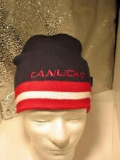 Vancouver  CANUCKS Hockey Fan RETRO BLUE MAROON  Knit Hat Beanie NHL CHILD   EUC
