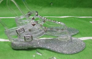 NEW  Clear Summer Beach Retro Ankle Strap Jellies Jelly Sandal  WOMEN Size 10