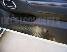 2010-2014 Camaro Carbon Fiber Decal Door Kick Plates -Interior Trim Chevy Cover