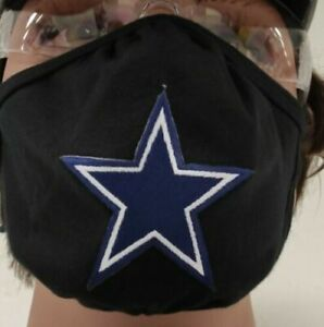Dallas Cowbys Face Mask Adult One Size Fits Dallas Football Washable Face Mask