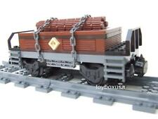 *New* Custom Built Train Car Built w/ New Lego Bricks ( Emerald Night 10194 )