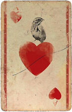 A5 Fridge Magnet - Vintage Ace of Hearts with Bird Playing Card (Picture Poker)