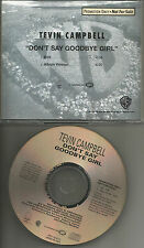 TEVIN CAMPBELL Don't Say Goodbye Girl w/ RARE EDIT PROMO DJ CD single 1993 MINT