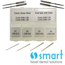 Dental Cónico Vidrio Fibra Correo Set 40 Piezas Con Instalación 4 Brocas