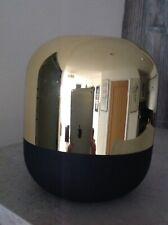 Amara Bloomingville glass black and gold pill vase, short 20cm high