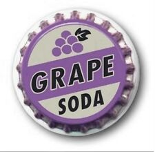 1 inch / 25mm Button Badge - GRAPE SODA design - Novelty Cute Up!
