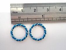 Coiled Enamel Non Tarnish Lip Conch Cartilage Helix Hoops 14 gauge 14g Blue