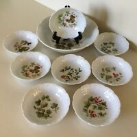 DANSK LIERRE LAUVAGE BERRY BOWLS SET OF 8 AND MASTER BOWL - NICE - FRANCE