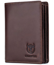 BullCaptain RFID BLOCKING Bi-fold Genuine Leather Men's Wallet