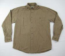 Austin Clothing Co. Men's Long Sleeve Button Front Shirt Brown Size M
