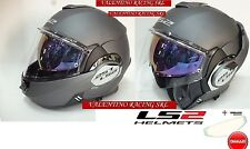 CASCO LS2 FF399 VALIANT SINGLE MONO MODULARE MATT TITANIUM OPACO MIS. S NEW