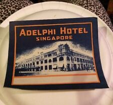 HOTEL ADELPHI luggage label (SINGAPORE)