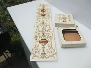 Ceramic Tiles Set Fireplace Tile Adm Style Urn Floral Flowers Art Nouveau
