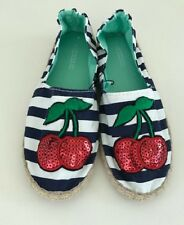 H&M Strip Summer Espadrille with Trendy Cherry Patch size 7&8 - AU Seller