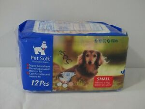 Pet Soft Disposable Dog Diaper Size Small (2A1)