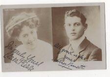 Actors Clara Pierse & Aubrey Kennett Vintage RP Postcard Autographed In Ink 840b
