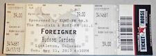 Pair of Foreigner Aug 11, 2013 Original Concert Ticket Stubs Littleton Colorado
