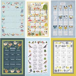 Ulster Weavers 2022,2021/20/19 Cotton Calendar Tea Towels Seasonal Sloth UK MADE