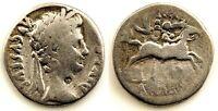 Roma- Tiberio 42 a.C.-37 d.C. Denario. Plata 3,5 g. Muy escasa.