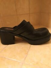 Harley Davidson Leather Black Clogs 7 1/2 Dual Strap Shoes
