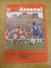 14/02/1978 Football League Cup Semi-Final: Arsenal v Liverpool  (Creased, Writin