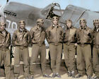 """THE TUSKEGEE AIRMEN AFRICAN AMERICAN PILOTS WWII 11x14"""" HAND COLOR TINTED PHOTO"""