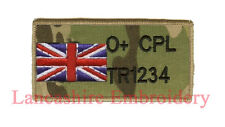 MULTICAM MTP ZAP BADGE + R/W/B UNION JACK UBACS ( British Army Marines RAF