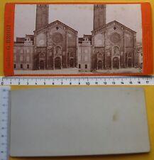 Stereophoto Chiesa Romanica con campanile - Ed. Brogi - metà '800