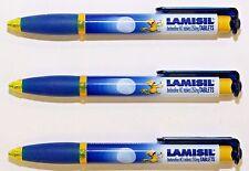 3 Pharmaceutical Lamisil Drug Rep Pens  3-D clip  Wide Body  New