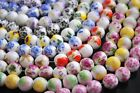 10pcs10mm Round Porcelain Ceramic Loose Spacer Beads Findings Mixed Colours