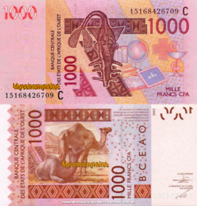 WEST AFRICAN STATES, BURKINA FASO, 1000 Francs, 2015, Code C, P315Co, UNC