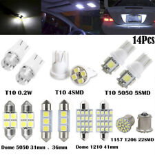 14x LED Interior Package Kit For T10 36mm Map Dome License Plate Lights White#LJ