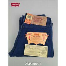LEVI'S jeans LEVIS 501 Original Fit donna BLU denim Vintage style