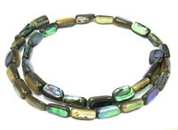 😏 Abalone Röhrchen ~ 11-13 mm Perlmutt Perlen Strang Muschelperlen für Kette 😉