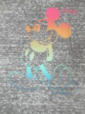 New listing Disney Florida Junk Food Neon Mickey Mouse Burnoutgray Xs Women'S T-Shirt A801