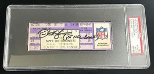12/3/1995 DERRICK BROOKS BUCS 1ST SACK SIGNED AUTOGRAPH FULL TICKET PSA/DNA 10