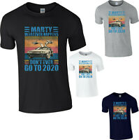 Marty Don't ever Go to 2020 T-shirt Back to the Future Funny Vintage Retro Tee