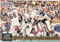 FREE SHIPPING-MINT-1991 Pro Set #326 REPLAY-BILLS' RALLY STUNS BRONCOS