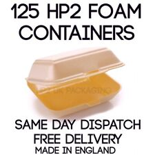 HP2 HB9 MB9 Food Takeaway Burger Box Foam polystyrene Containers 125 Offer Cheap