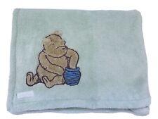 Classic Winnie The Pooh Baby Blanket  Sage Green Honey Pot Security Lovey Disney