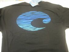 New Authentic Costa Del Mar, Swell, Black Short Sleeve T-Shirt Size - Xl