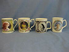 4 Queen Elizabeth The Queen Mother Commemorative Mugs ~ Aynsley / Sutherland..