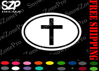 "Cross DECAL 5.5"" Bible Window Bumper Sticker vinyl religious Jesus Vinyl"