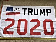 Donald Trump 2020 Flag FREE SHIPPING WHITE 3x5' Keep America Great Flags Banner