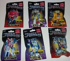 """Lot of 6 SET G1 Transformers 2"""" Dollar Tree Poly Bagged Mini Figures 2020"""